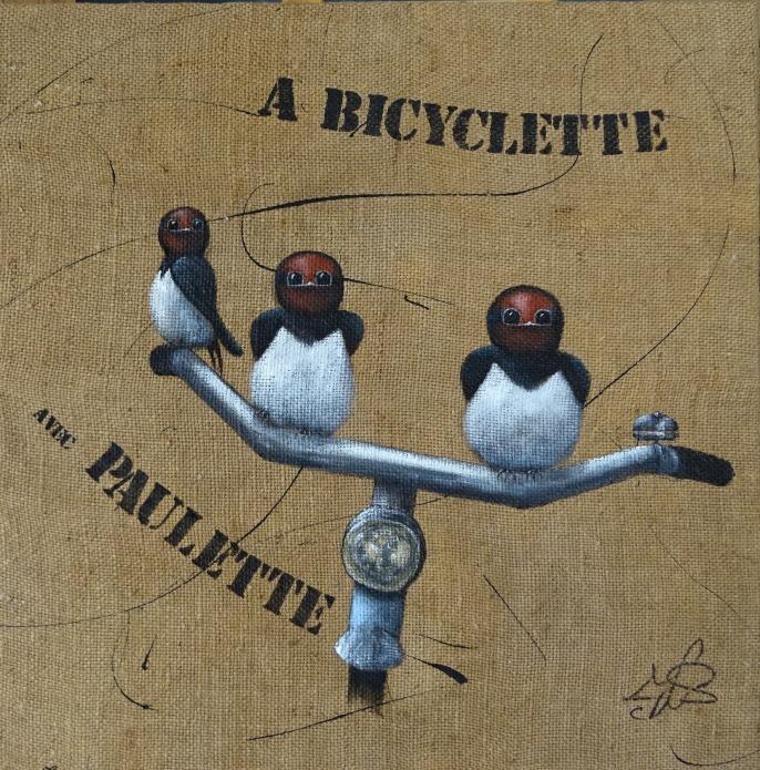 A bicyclette avec Paulette