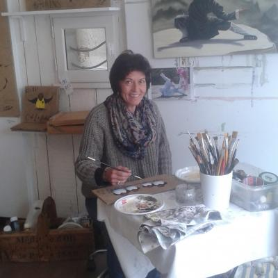 Sylvie leau leau artiste peintre ile de re re toile de jute huile tableau acrylique saint martin de re la couarde sur mer 17410 17670 3 1